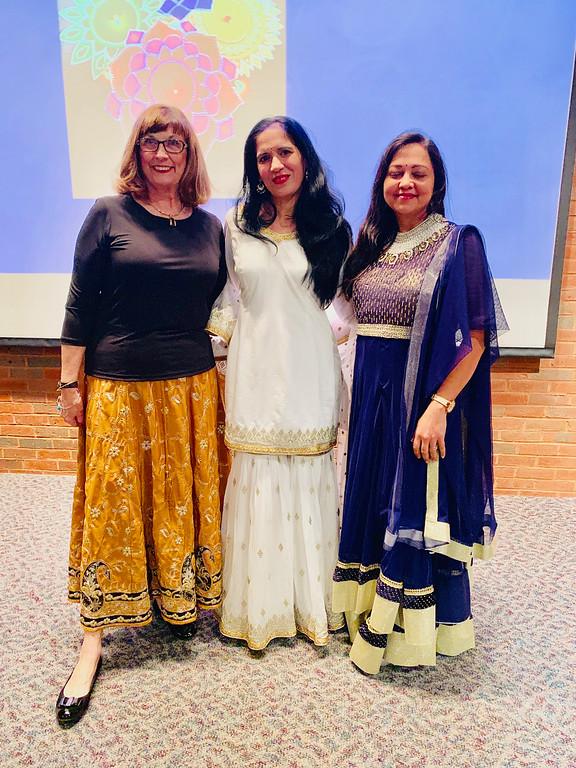 . From left, Sheila Rozumek of Salem, Dr. Seema Sahib of Grafton and Dr. Smita Kherede of Nashua