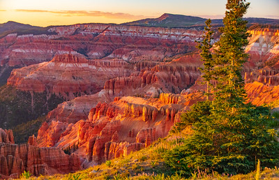 Last light of the day on the Cedar Breaks Amphitheater from the Spectre Point Trail