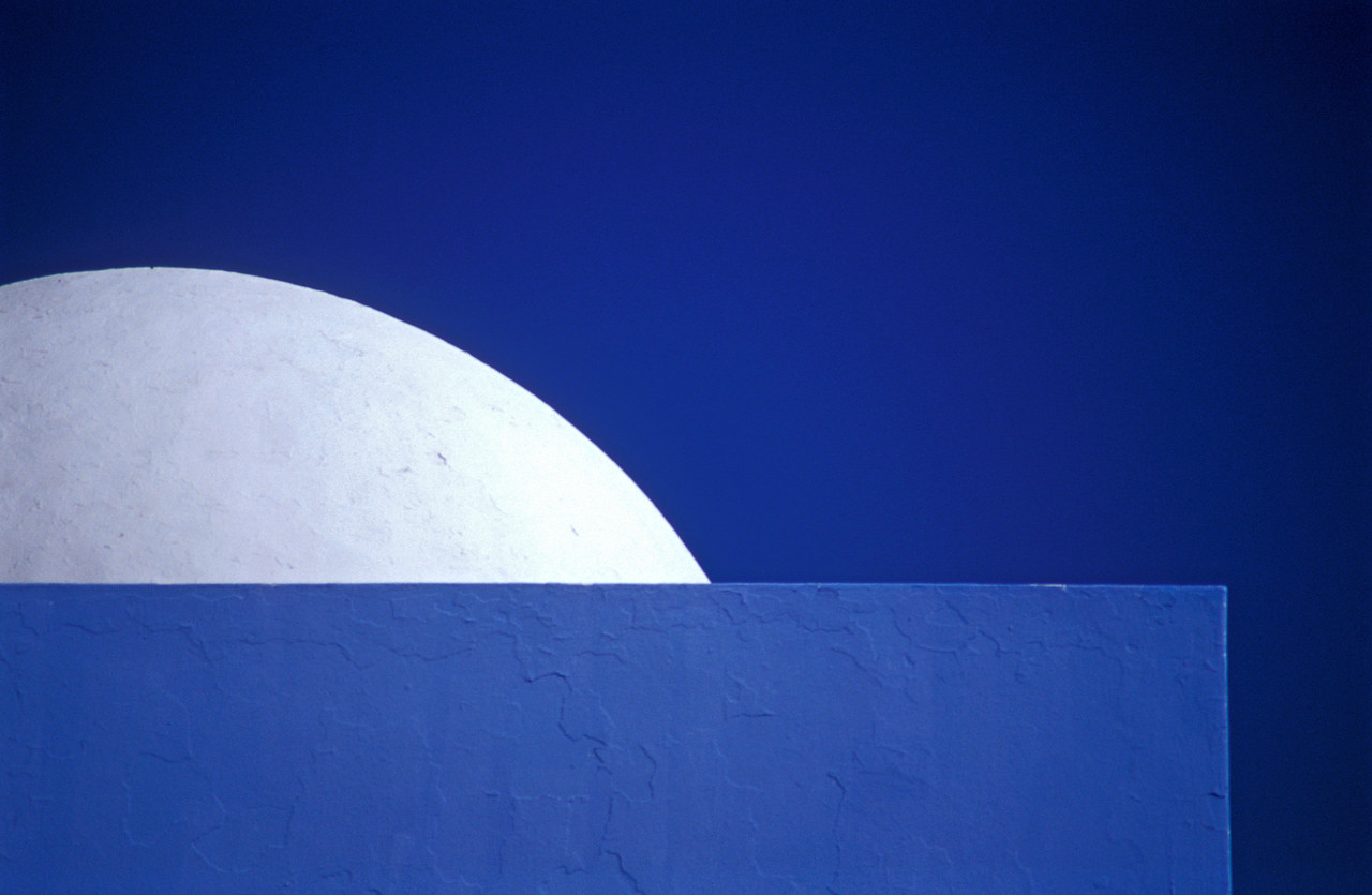 White Dome on Blue Building, Djerba
