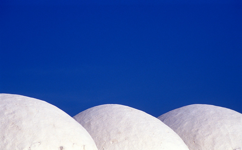 Domes of Tunisian White-clay Mosque