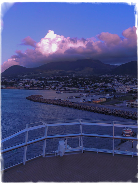 Early morning on the island of St. Kitts