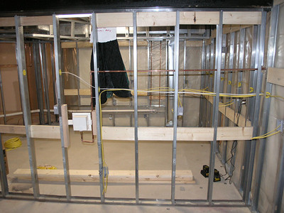 BASEMENT WALL FRAMING - STEEL