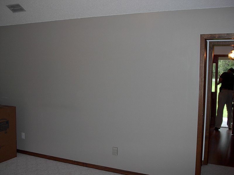 """This room has a vault. The desire is to remove portion of wall separating this room from the other side which has a Flat ceiling. Desired open archway is 10'-0""""."""