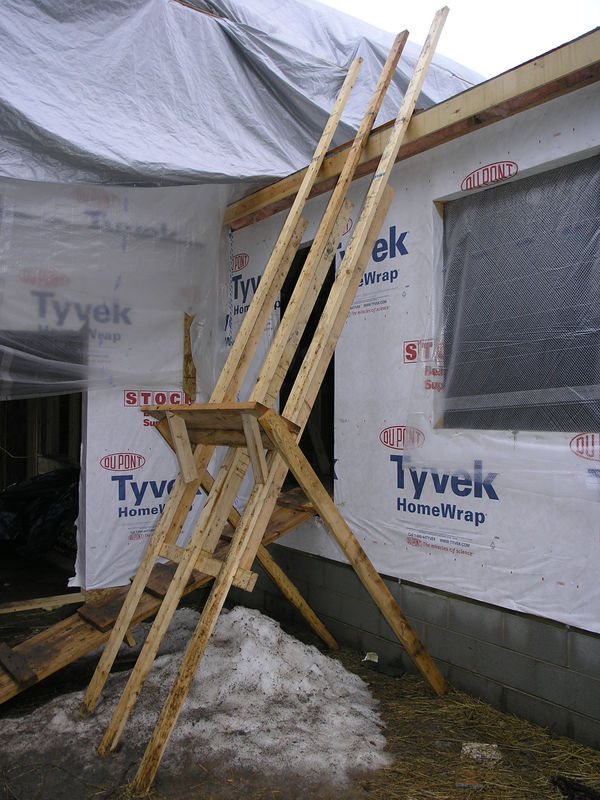 EXCELLENT WAY TO GET SHEATHING ONTO ROOF