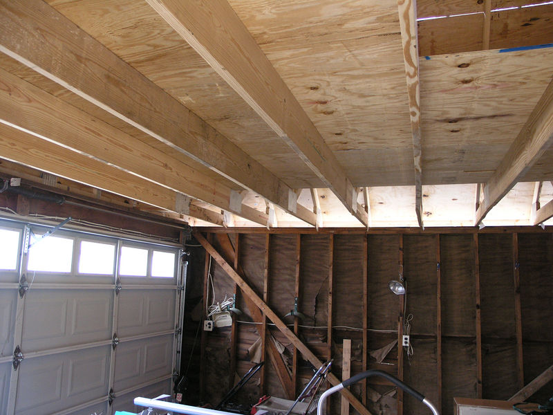 Attic Storage Trusses - Note Center Bottom Chord is thicker to accommodate weight as well as the span.