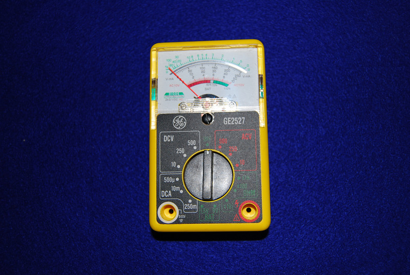I do not recommend this type of analog meter. You really need a meter that can read 2 decimal points to monitor battery status. This type of analog meter is not accurate enough.