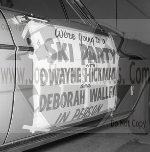 """Ski Party was a movie that Dwayne Hickman (Dobie Gillis), Deborah Walley, Frankie Avalon & Annette Funicello were in.  The movie came out in1965.  Here in this series of photo's that Joe Stevens captured, at the Wyandotte, MI Theater, Dwayne & Deborah were out on tour promoting their movie.  Leslie Gore & James Brown performed in ""Ski Party"" too.  Here is a trailer of the movie ""Ski Party"" that I found on U-Tube.  http://youtu.be/HZo954DwLhA"