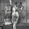 One of the Bikini Models during 1965 for some type of Birthday affair the Wyandotte Theater was promoting.  Look at all the boys wanting to come in through those old Wyandotte Theater doors that I remember well.