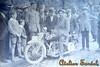 Saroléa, patrně 23M (500 OHV, 1926), SPZ z okresu Brandýs. Jezdec? Závod?