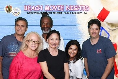 Beach Movie Nights at Dockweiler Youth Center.  Photo by Venice Paparazzi