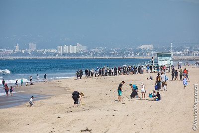 Coastal Cleanup Day at Dockweiler Youth Center.  Photo by Venice Paparazzi