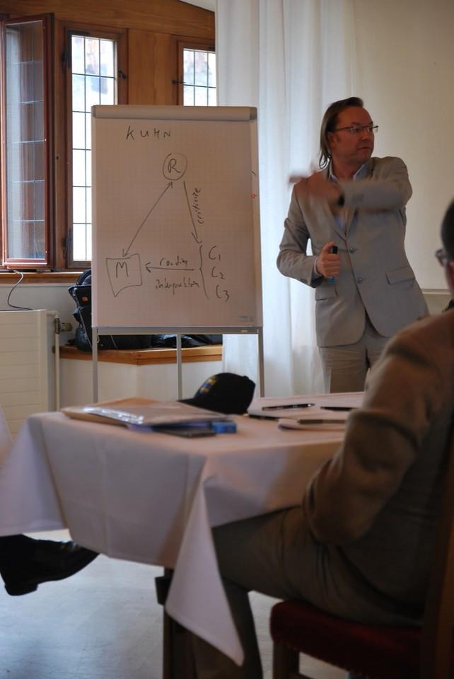 Dr. Madarasz Discussing Philosophy.