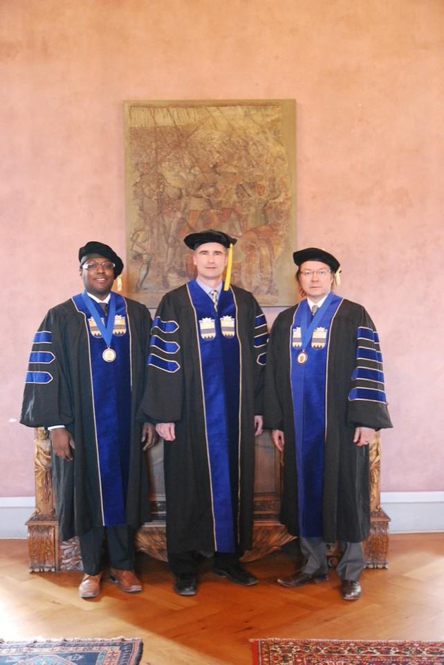 Dr. York (left), Dr. Henderson (center) and Dr. Madarasz (right)