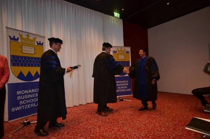 Dr. Dahringer Congratulating Dr. Bhikharie.