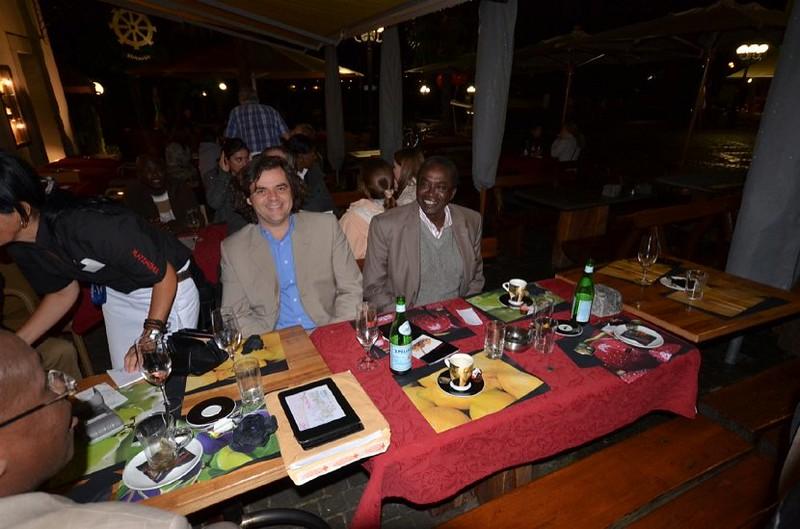 Dr. Antoniou Enjoying The Company.