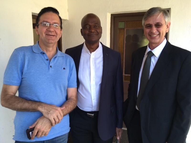 Doctoral Candidates Franz Els, David Mogale and Dr. Khalil duPlessis.