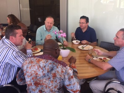Sharing lunch break together!