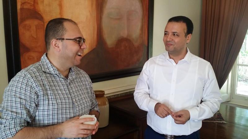 Doctoral Candidates Alam Mahfouz and Ezzat Ragab.