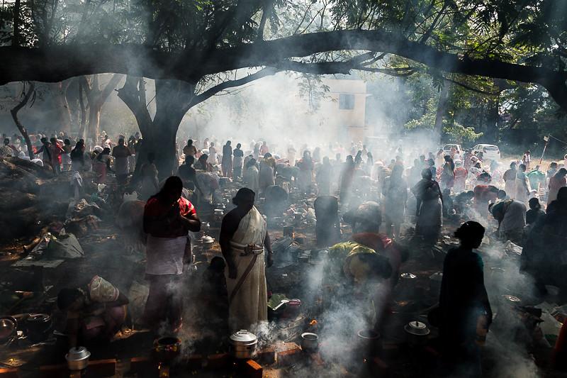 Aatukal Pongala Festival, Kerala, India.