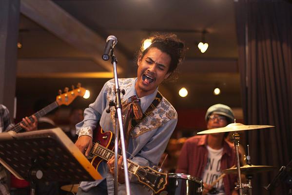 """Billy Blues"": Rockabilly and Blues Party at The Hop, Silom, Bangkok."