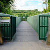 Entrance to Trap Ground Allotments via new pedestrian bridge