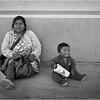 Mexico Tijuana Panhandler Mother with Toddler April 2006