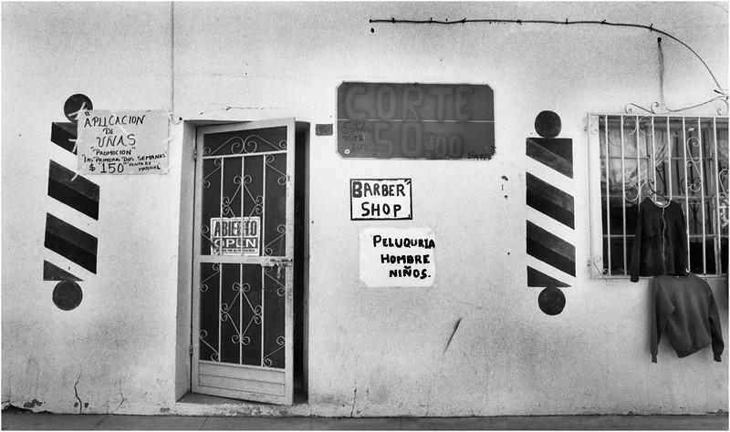 Mexico Bacoachi Barber Shop April 2008