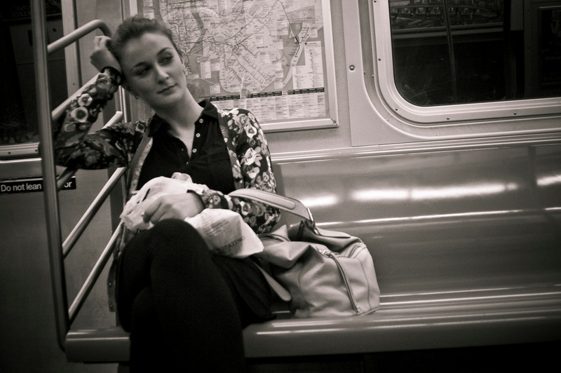 """The N Train going Uptown from Astonia, Queens <br /> <br /> Vesna, 23 from Serbia<br /> <br /> Vesna at first was reluctant because she was still in her work clothes.  I told her I understood, everyone feels like that when still in work clothes.  Vesna moved to NYC the last time CHANGE came into her life.<br /> <br />   """"I'm usually scared of CHANGE at first.  I like life to be everyday routine.  After a while (when CHANGE needs to happen) I get so frustrated that I will take any kind of CHANGE just to get out of the situation."""""""