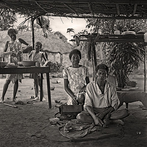 Father and Daughters Papua New Guinea 1970 12 x 12Black and White                                                                         Exhibit opens November 1, 2013, Central Bank - Lexington KY