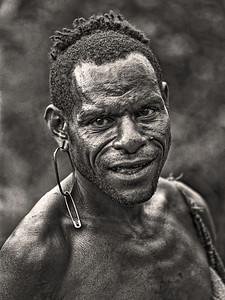 Safety Pin Earring Papua New Guinea 1970 8 x 10Black and White                                                                         Exhibit opens November 1, 2013, Central Bank - Lexington KY