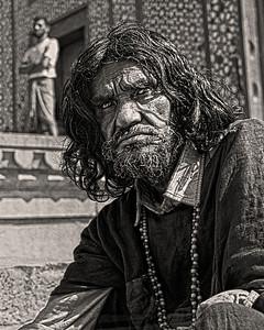 Holy Tough Benares, India 1972 16 x 20Black and White                                                                                                                           Exhibit opens November 1, 2013, Central Bank - Lexington KY
