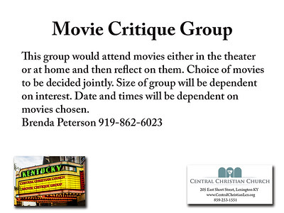 Movie Critique Small Card