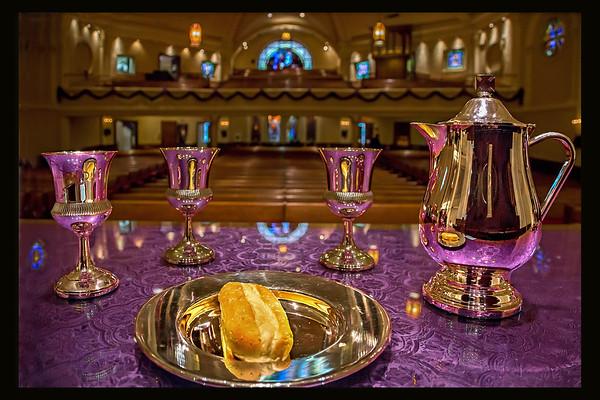 Communion Table on Black 24 x 16