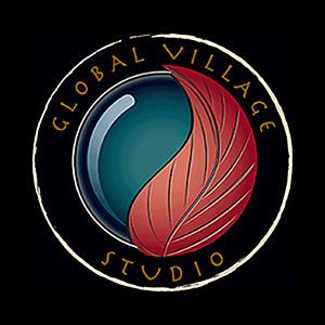 GVS Logo on Black Square 2 in