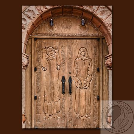 Center Door on Background z