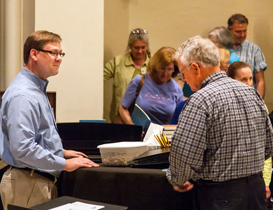 Dr. George Zack with Michael Rintamaa rehearsing Mozart's Requiem, March 2012 - John Lynner Peterson Photography                    Central Christian Church, Lexington Kentucky                            http://centralchristianlex.info/