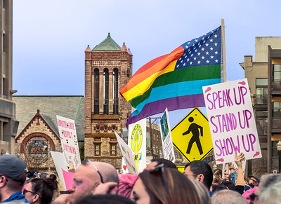 In the midst of the chaos and energy of the Women's March stands Central Christian Church. January 21, 2017.  A sentinel for the Gospel.  A witness for grace and justice.   http://centralchristianlex.info/