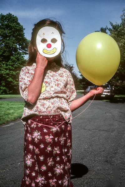 Girl with Mask and Balloon 1983