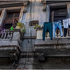 Cuba Havana Centro Havana Balcony with Laundry March 2017