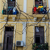 Cuba Havana Centro Havana Balconies and Hanging Clothes 1 March 2017