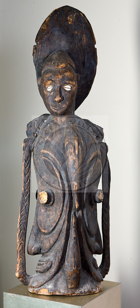 Four Faces Carving - Sepik River - Papua New Guinea<br /> 34h, 11w