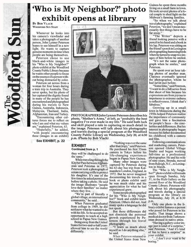 Woodford Sun John Lynner Peterson July 17, 2011