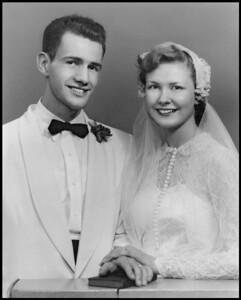 8 Wedding Photo Don and Vonda September 3, 1953 Bloss Studuio Marlette, MI l