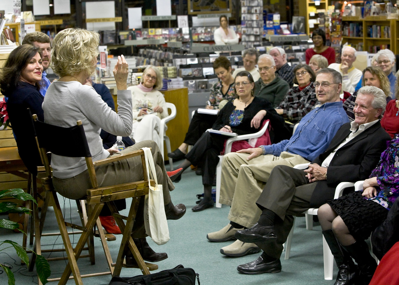 How to Write a Memoir Event - Quail Ridge Books - Raleigh Right 2 Publish -------   Elaine Orr, Nancy Stolfo-Corti and Stacey Cochran