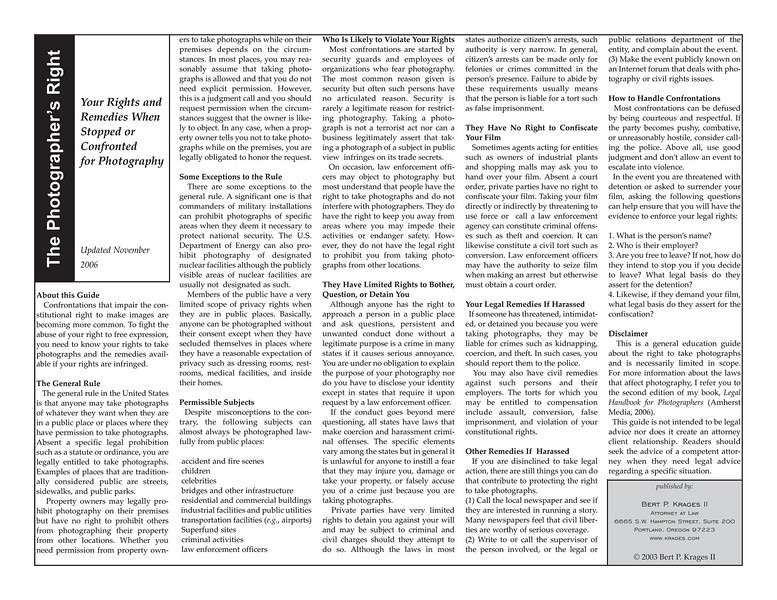 "<a href=""http://www.krages.com/ThePhotographersRight.pdf"">http://www.krages.com/ThePhotographersRight.pdf</a>"