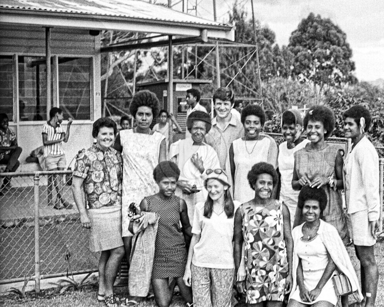 Lae Papua New Guinea - Balob Teacher's College women's Basketball team