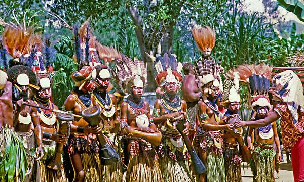 Papua New Guinea's famous Goroka Show Sing-Sing. Young girls getting a chance to shine.