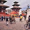 Old downtown Kathmandu / Centro antigo de Katmandu