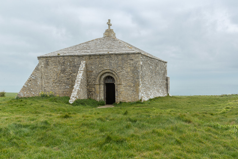 St Albans Head and 13th century chapel