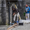 Ireland County Galway Galway City 7 Stone Workers at Cathedral September 2017